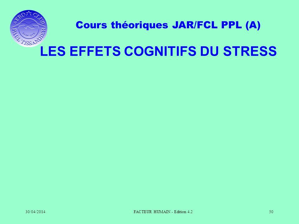 LES EFFETS COGNITIFS DU STRESS