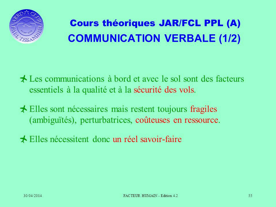 COMMUNICATION VERBALE (1/2)