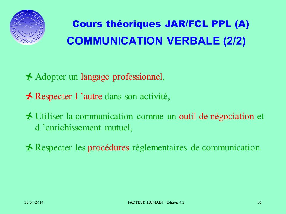 COMMUNICATION VERBALE (2/2)
