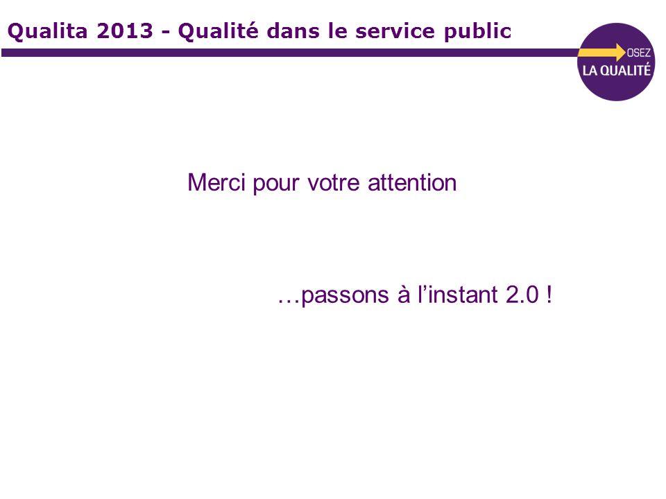 Qualita 2013 - Qualité dans le service public