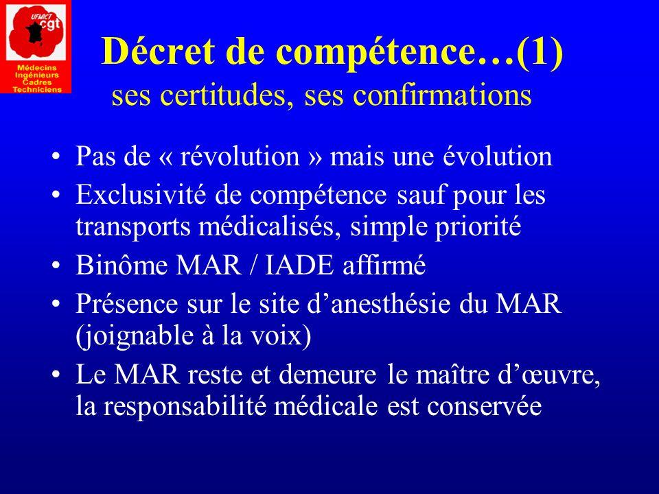 Décret de compétence…(1) ses certitudes, ses confirmations