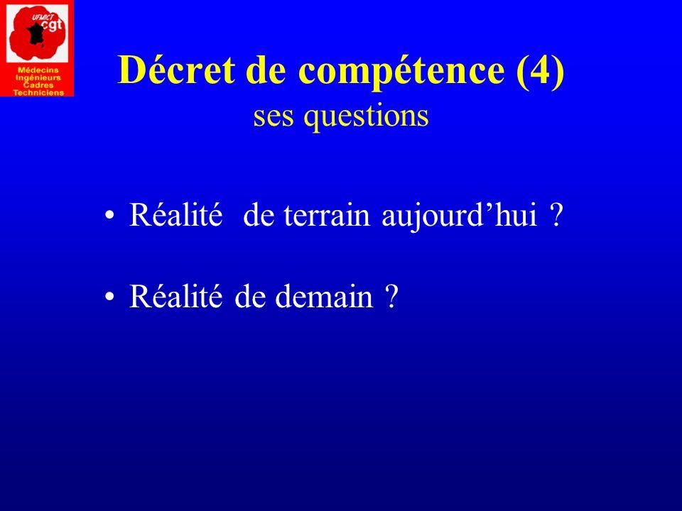 Décret de compétence (4) ses questions