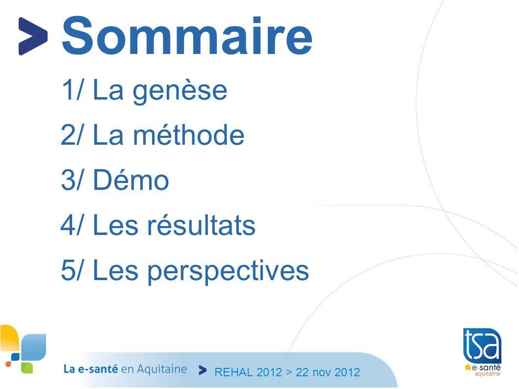 Sommaire 1/ La genèse 2/ La méthode 3/ Démo 4/ Les résultats