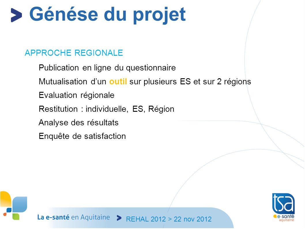 Génése du projet APPROCHE REGIONALE