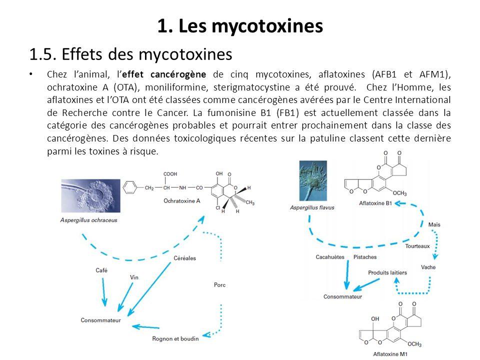 1. Les mycotoxines 1.5. Effets des mycotoxines