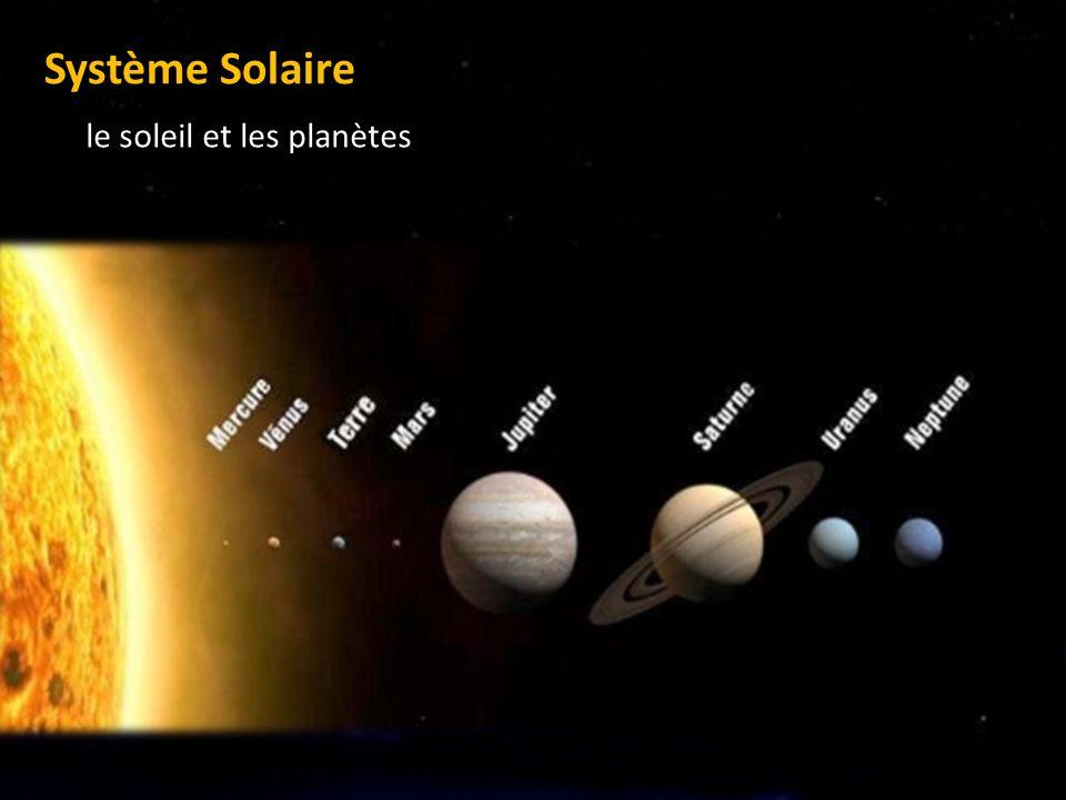 Système Solaire le soleil et les planètes