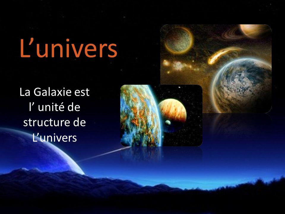 La Galaxie est l' unité de structure de L'univers