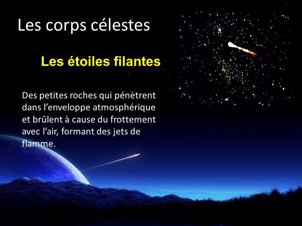 Les corps célestes Les étoiles filantes