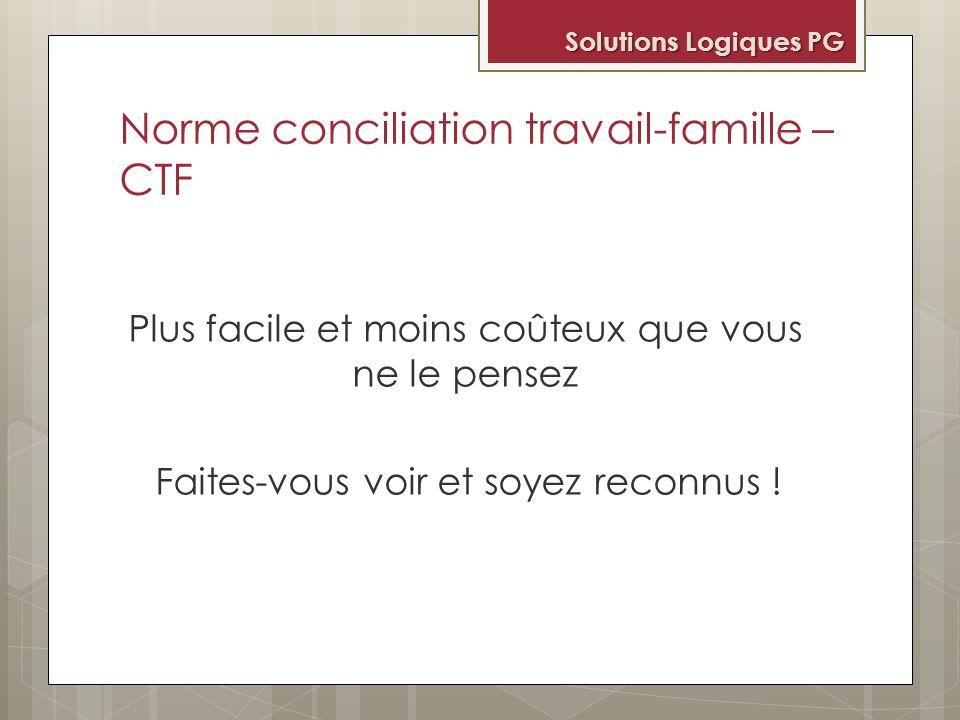 Norme conciliation travail-famille – CTF