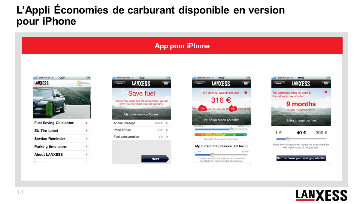 L'Appli Économies de carburant disponible en version pour iPhone