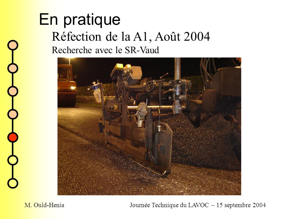 Journée Technique du LAVOC – 15 septembre 2004