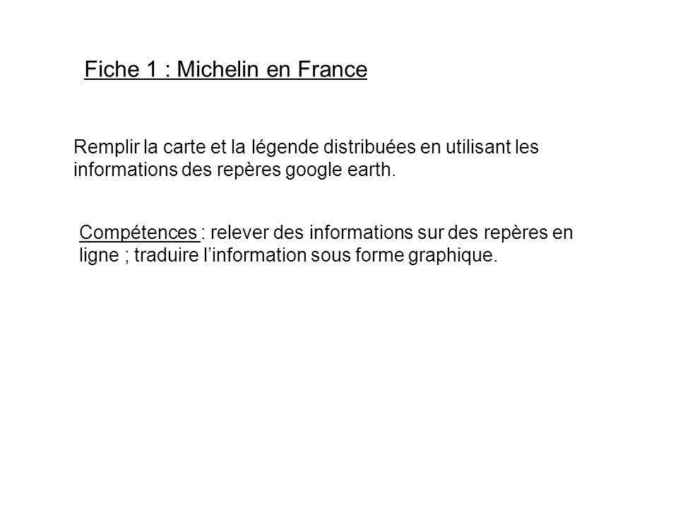 Fiche 1 : Michelin en France