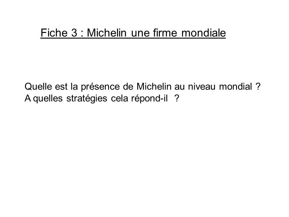 Fiche 3 : Michelin une firme mondiale