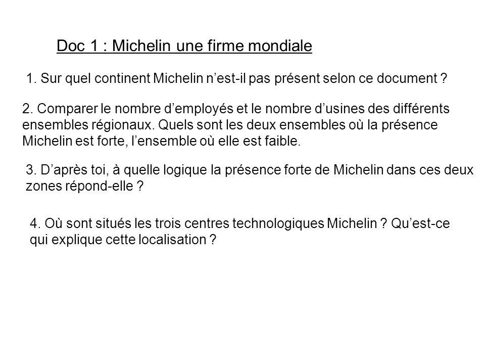 Doc 1 : Michelin une firme mondiale