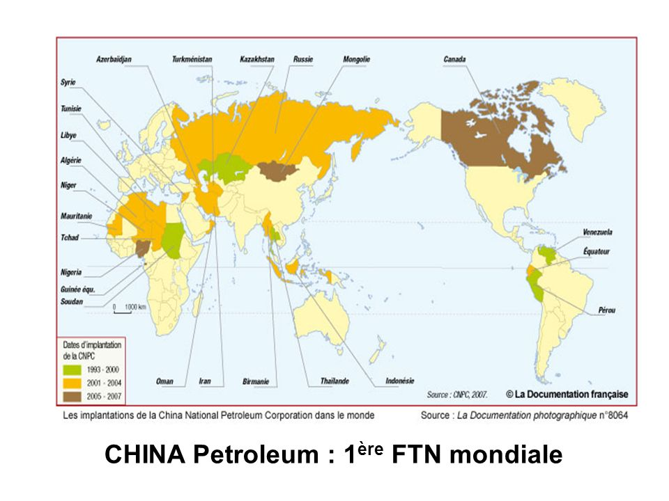 CHINA Petroleum : 1ère FTN mondiale