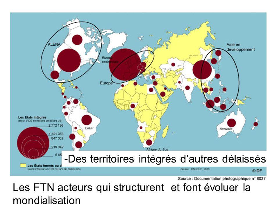 -Des territoires intégrés d'autres délaissés