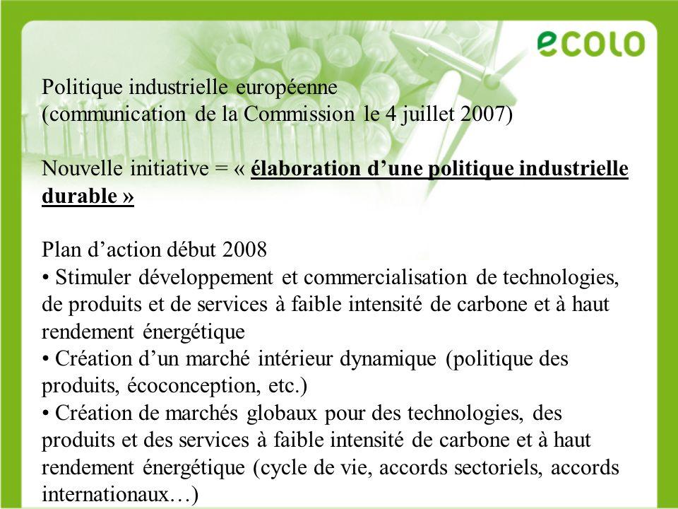Politique industrielle européenne