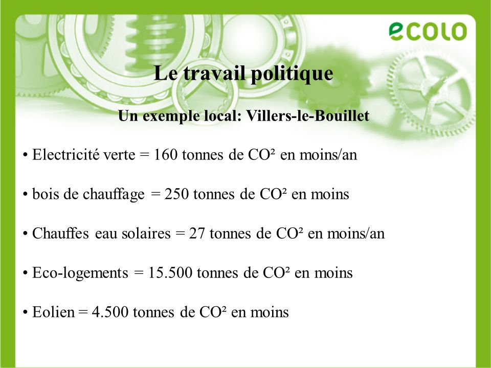 Un exemple local: Villers-le-Bouillet