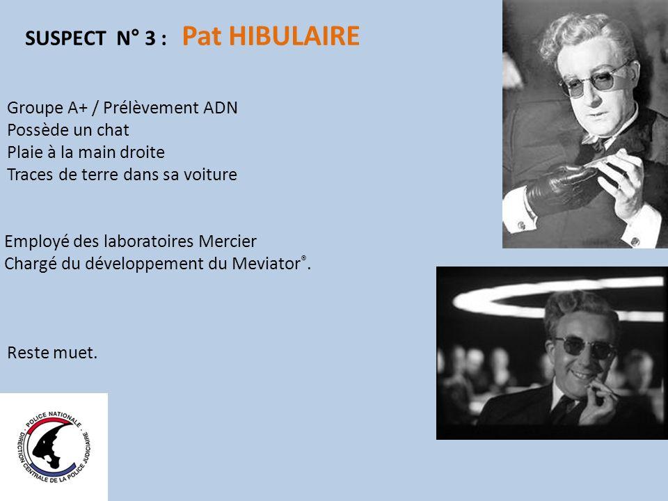 SUSPECT N° 3 : Pat HIBULAIRE