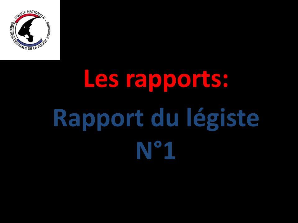 Les rapports: Rapport du légiste N°1