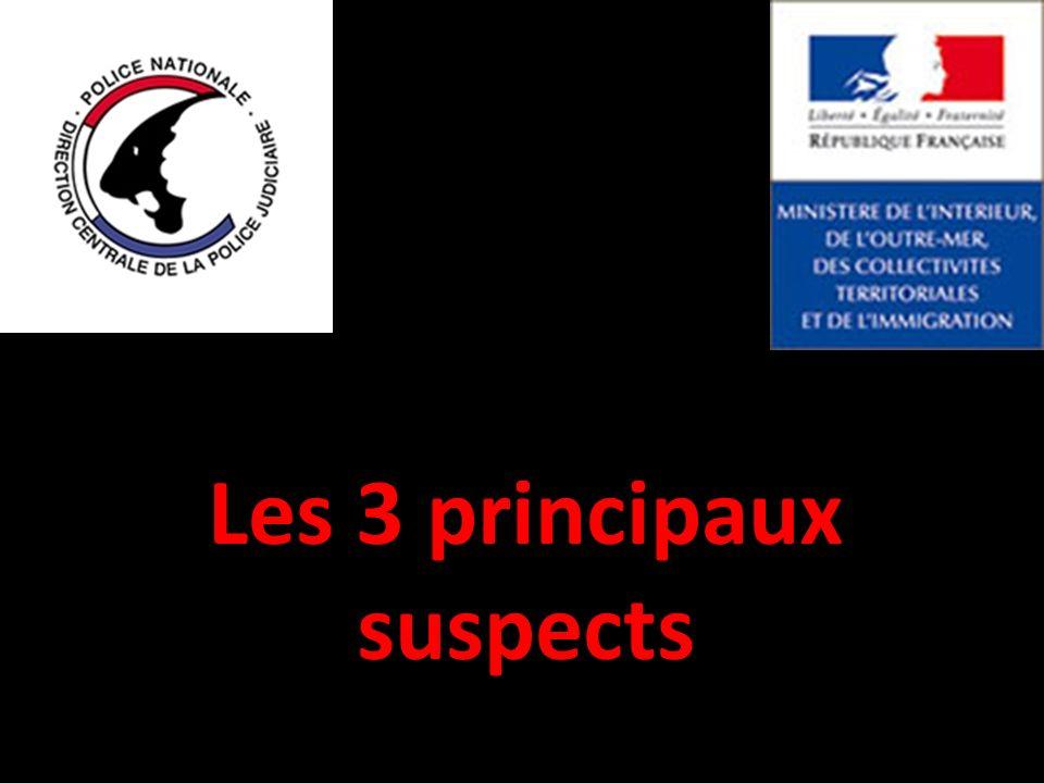 Les 3 principaux suspects