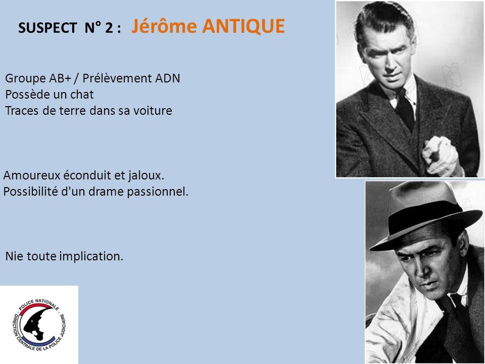SUSPECT N° 2 : Jérôme ANTIQUE