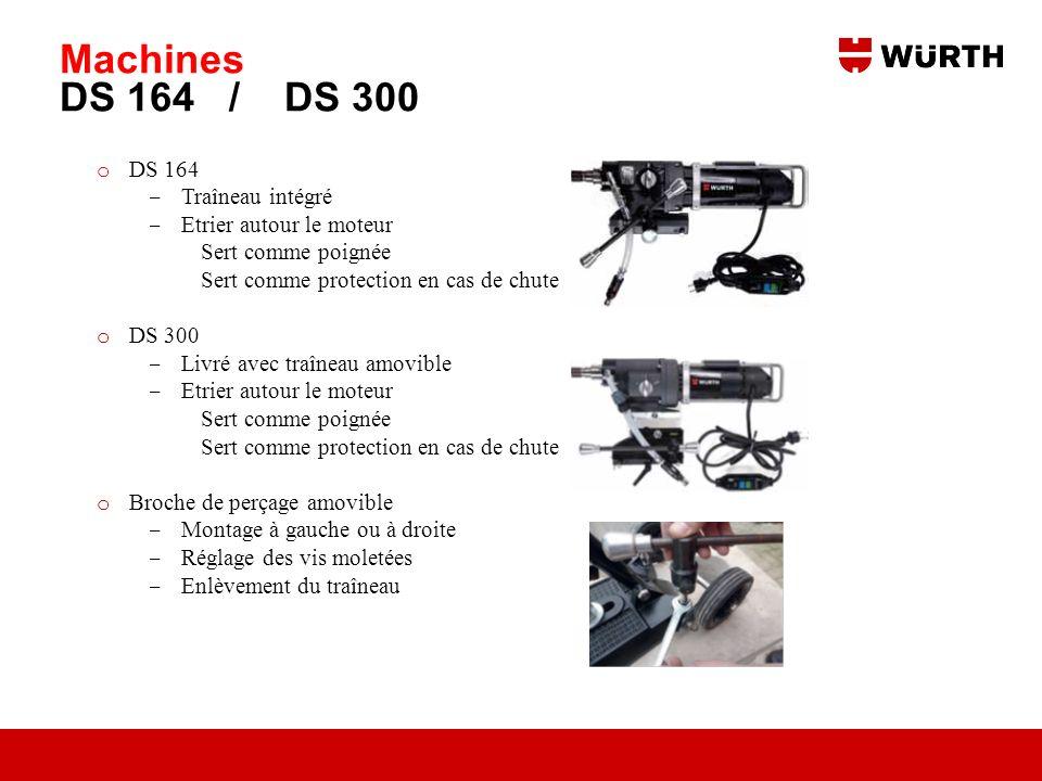 Machines DS 164 / DS 300 DS 164 Traîneau intégré