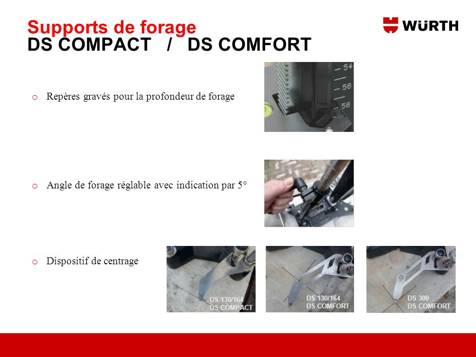 Supports de forage DS COMPACT / DS COMFORT