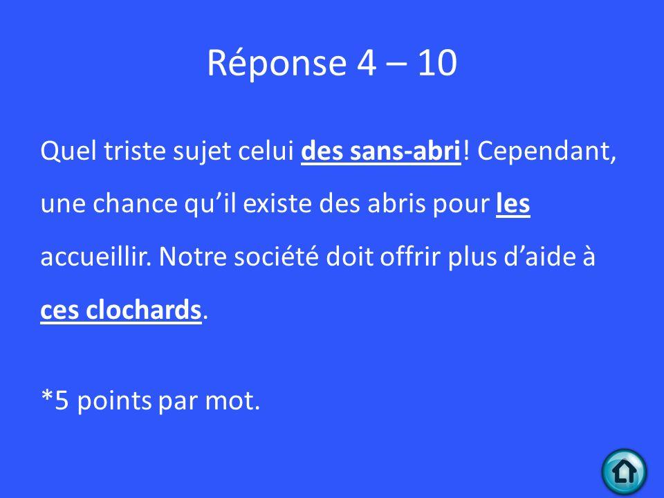 Réponse 4 – 10