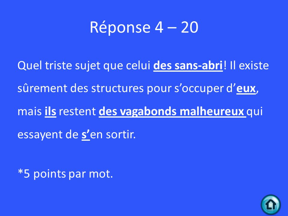 Réponse 4 – 20