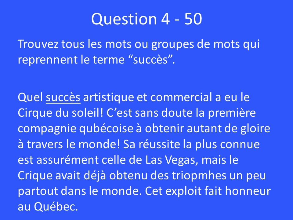 Question 4 - 50