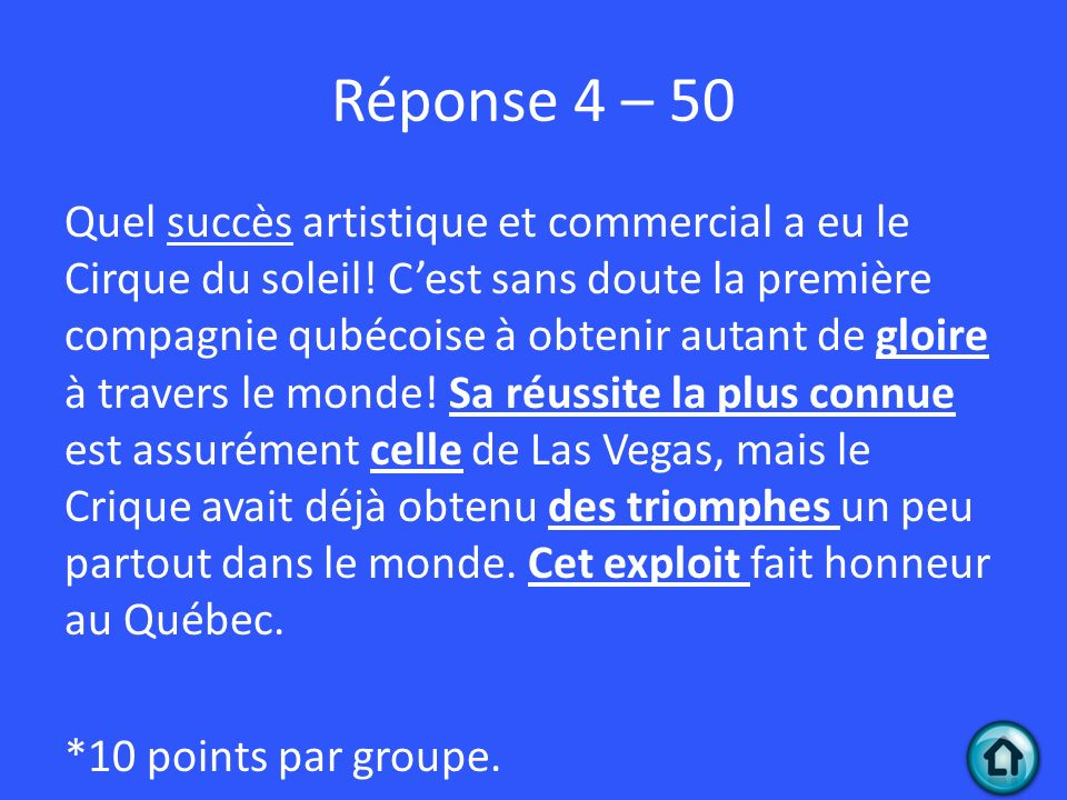 Réponse 4 – 50