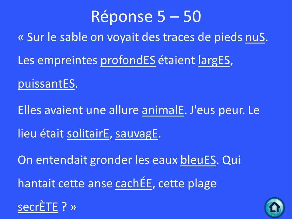 Réponse 5 – 50