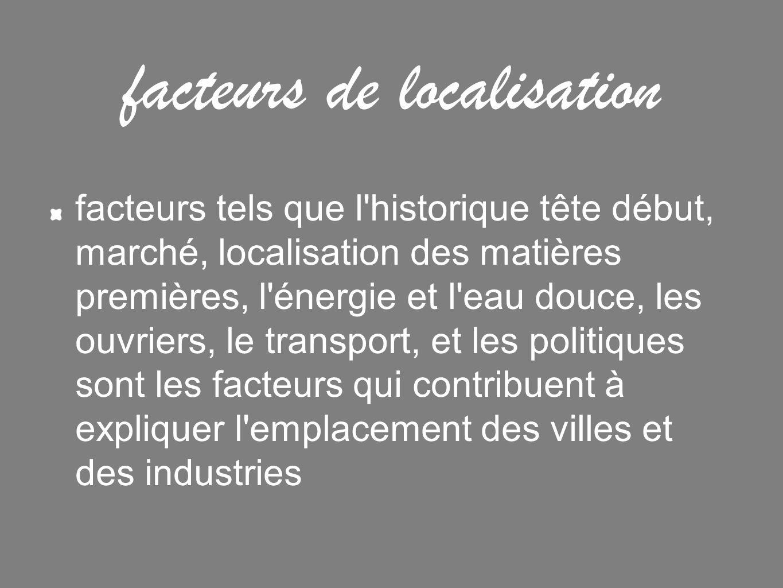 facteurs de localisation