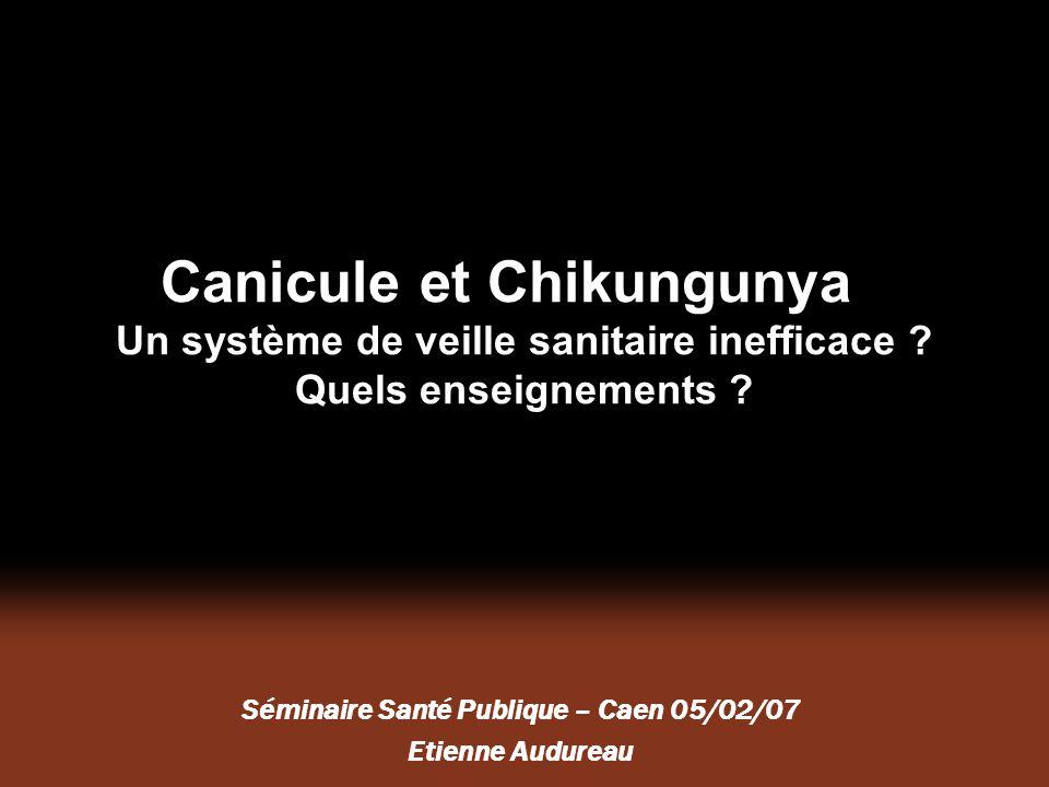 Séminaire Santé Publique – Caen 05/02/07 Etienne Audureau