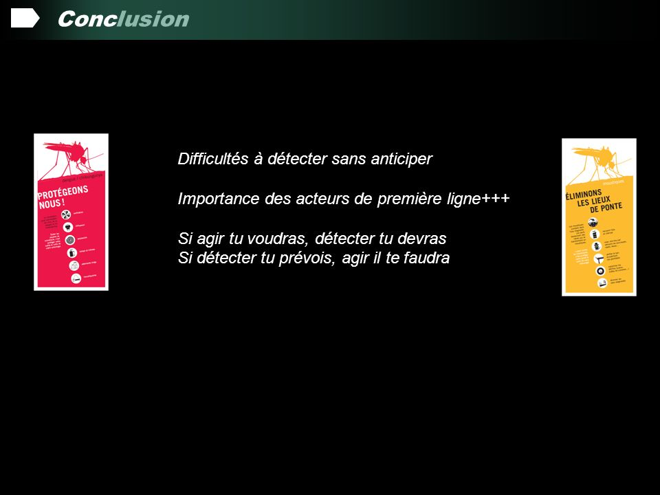 Conclusion Difficultés à détecter sans anticiper