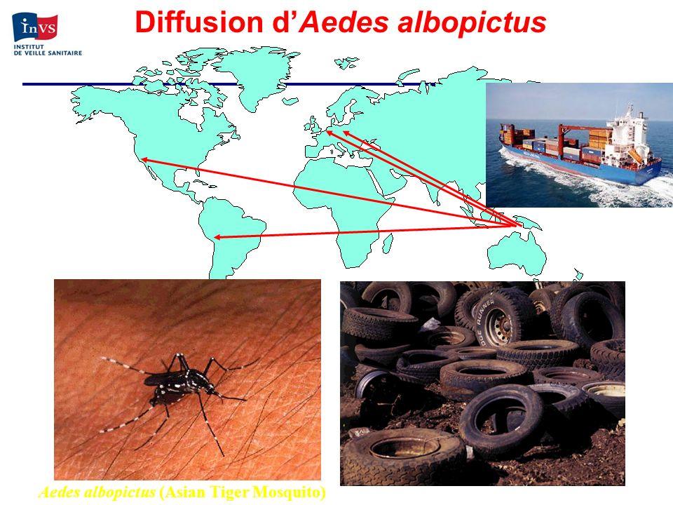 Diffusion d'Aedes albopictus