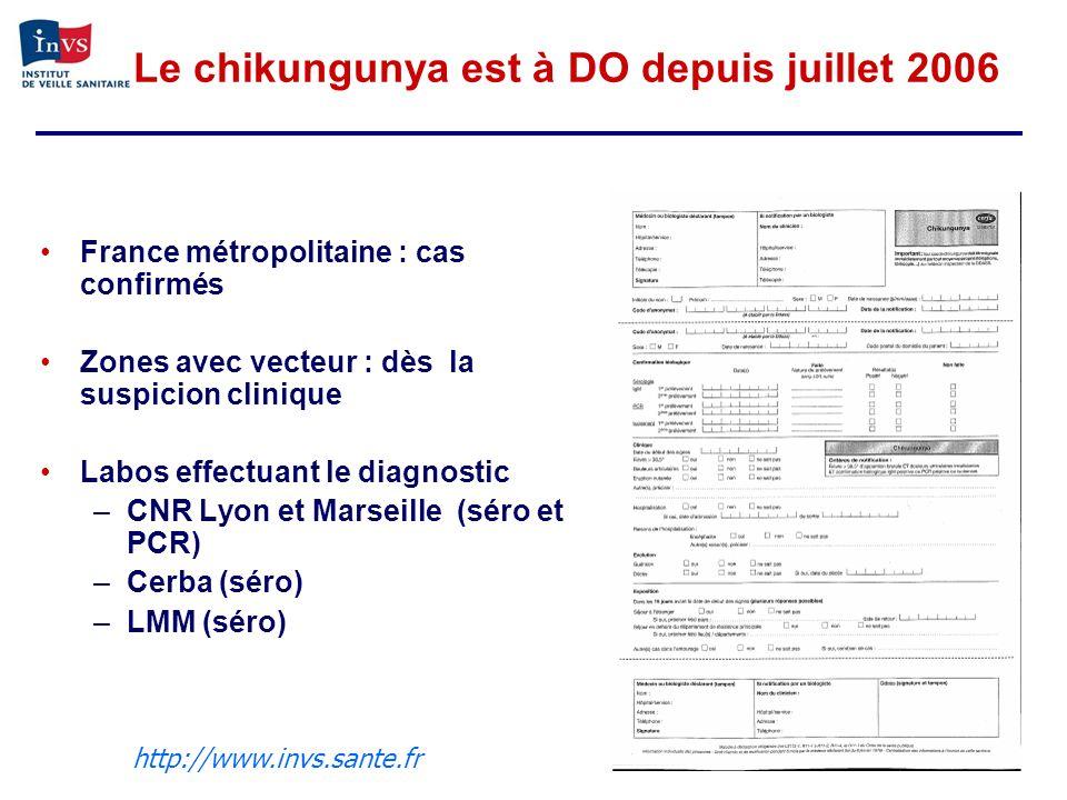 Le chikungunya est à DO depuis juillet 2006