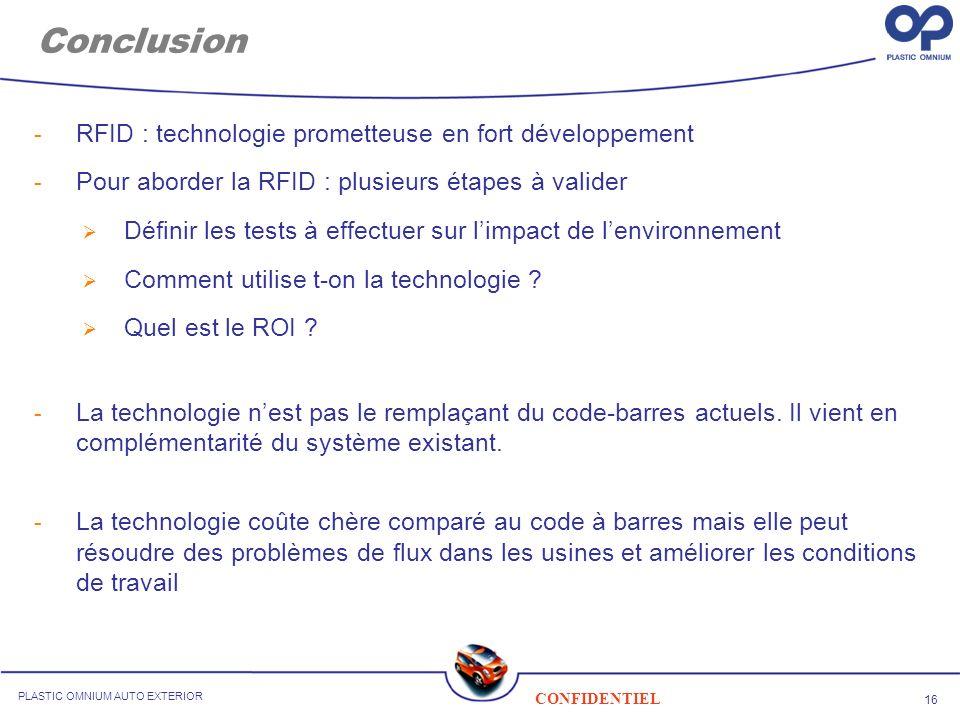 Conclusion RFID : technologie prometteuse en fort développement