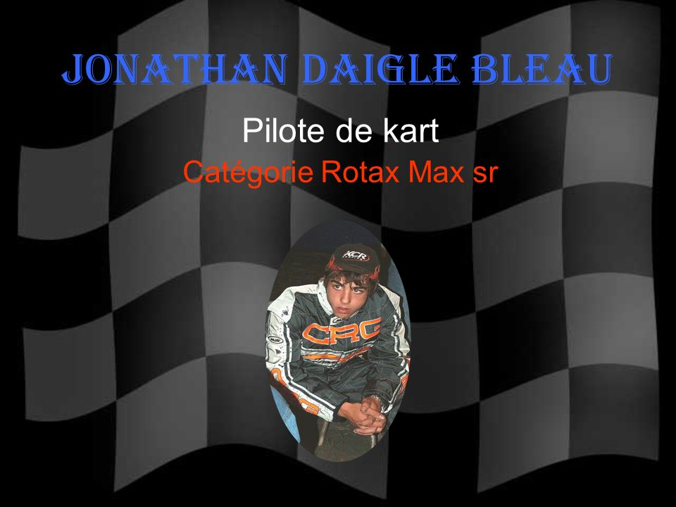 Pilote de kart Catégorie Rotax Max sr