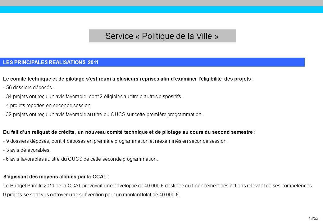 Service « Politique de la Ville »