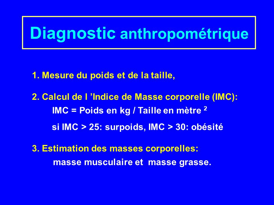 Diagnostic anthropométrique