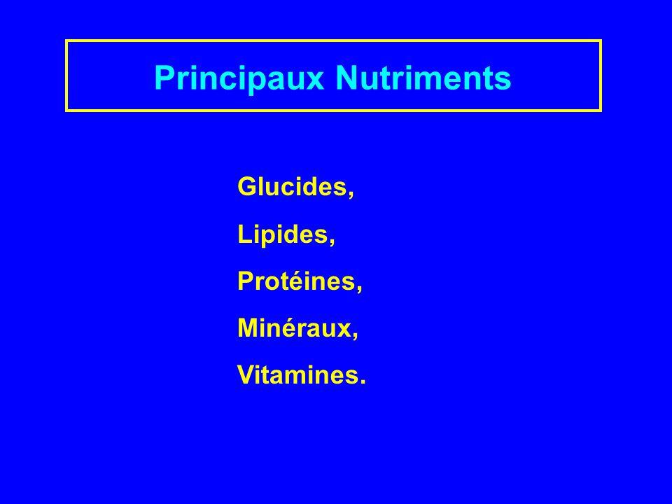 Principaux Nutriments