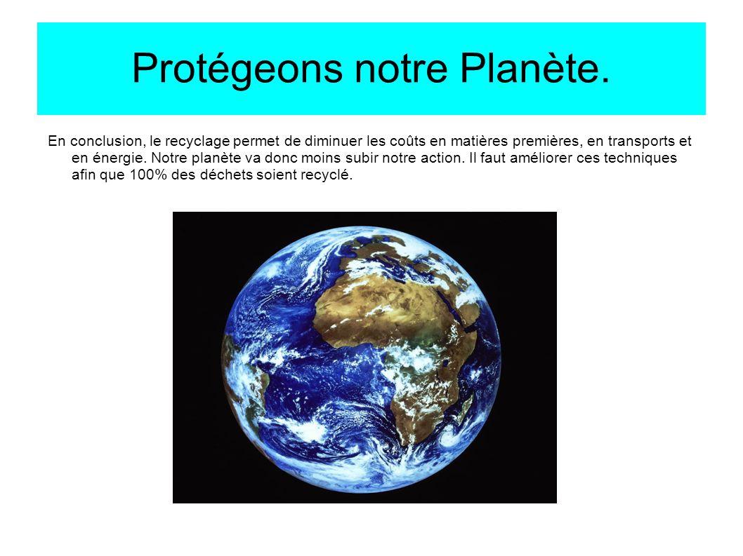 Protégeons notre Planète.