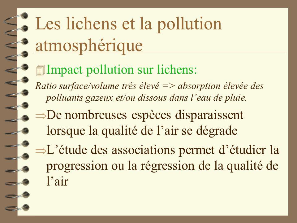 Les lichens et la pollution atmosphérique