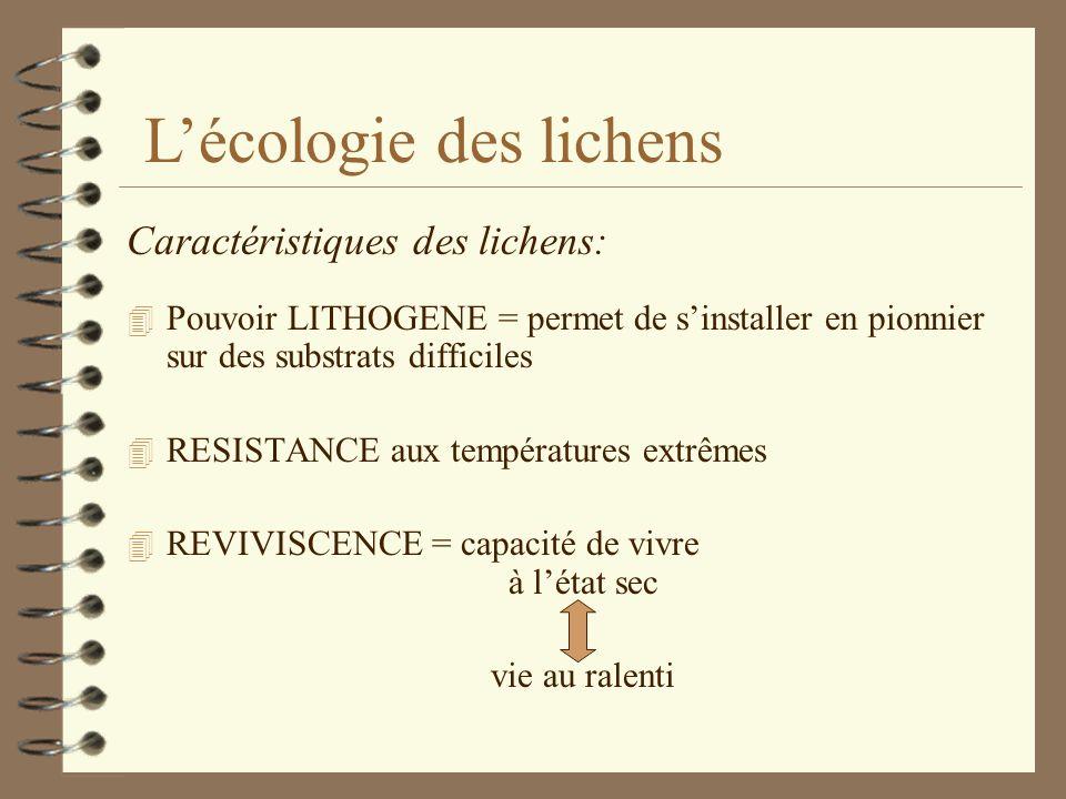 L'écologie des lichens