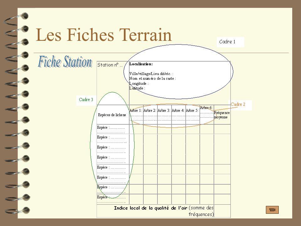 Les Fiches Terrain Fiche Station