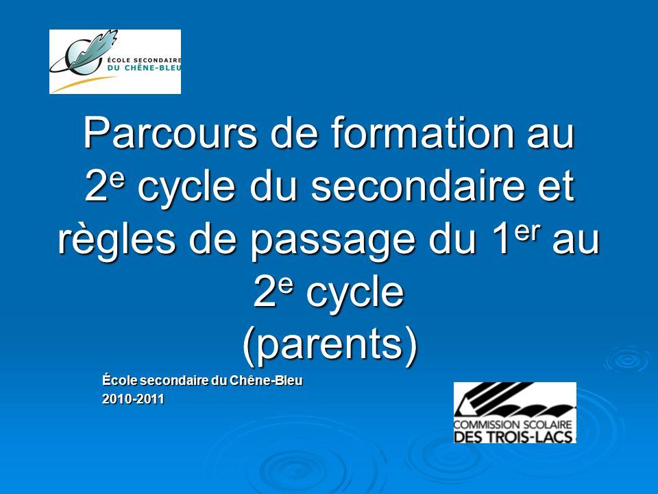 École secondaire du Chêne-Bleu 2010-2011