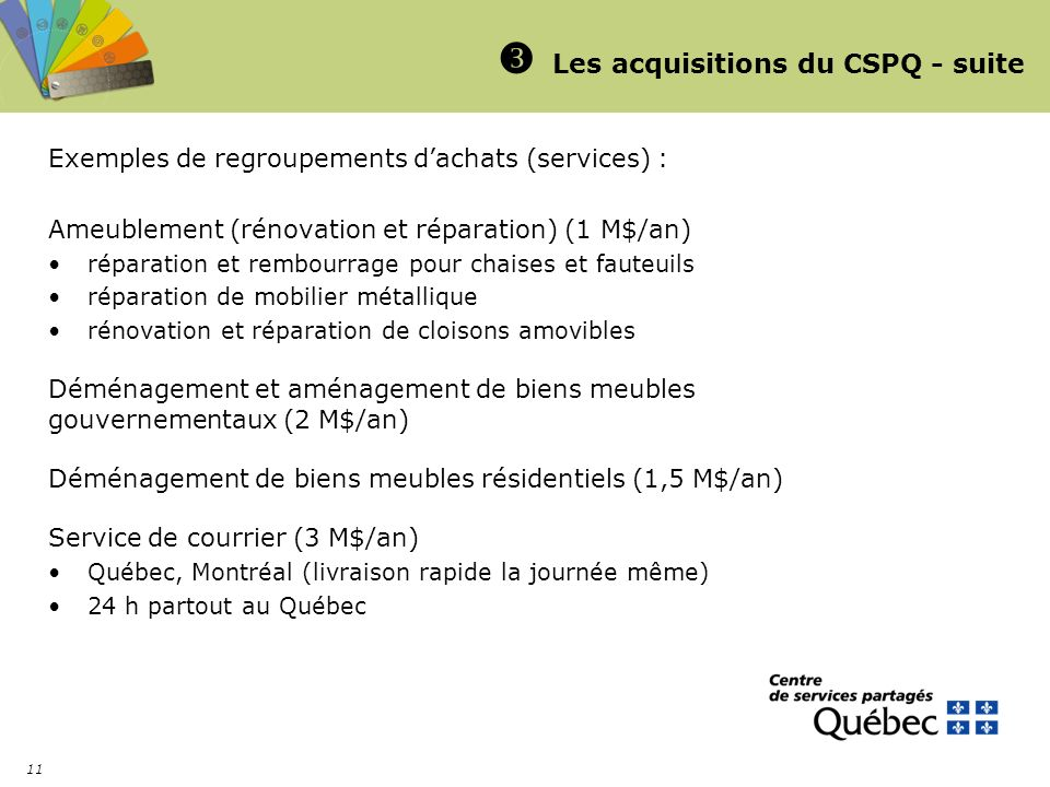  Les acquisitions du CSPQ - suite