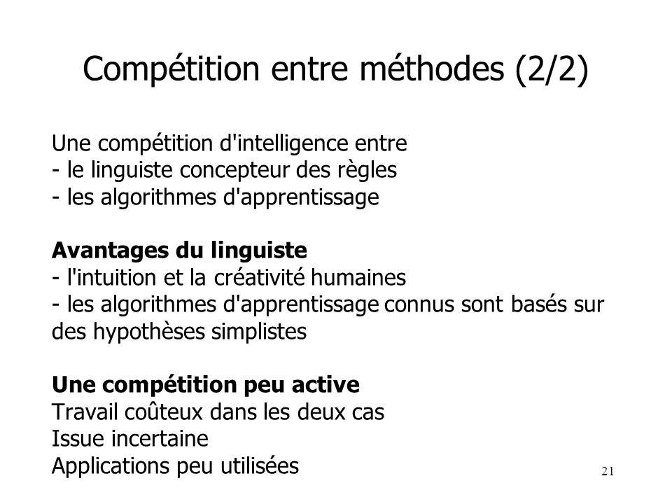 Compétition entre méthodes (2/2)